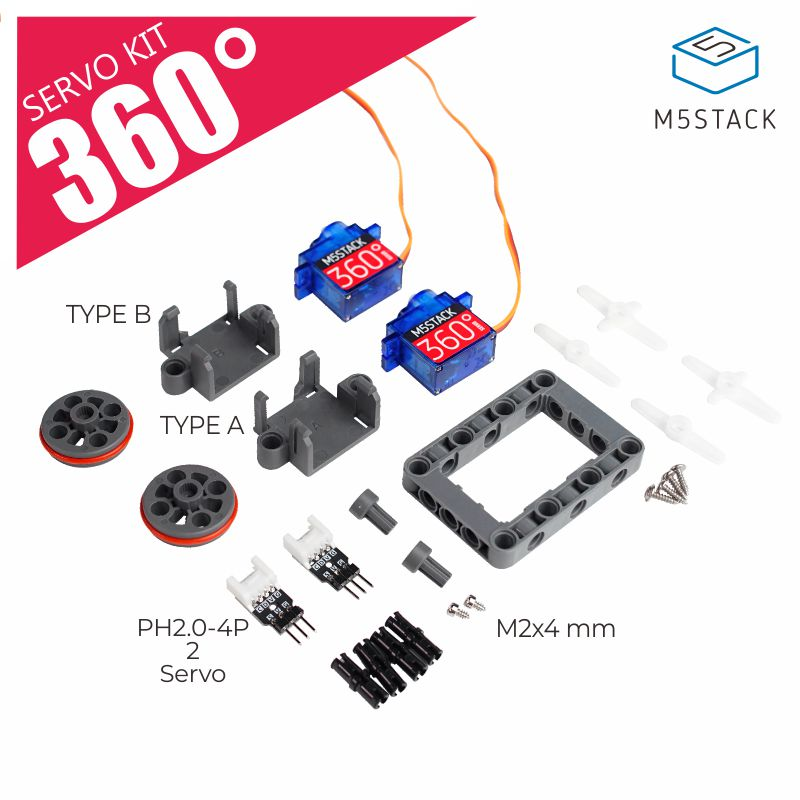 M5Stack Official Servo Kit 360 Degree Micro Servo 9g SG90 Servo For Arduino UIFlow Helicopters Drones Airplane