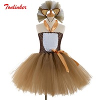 Halloween Girls Forest Lion Tutu Dress+Headband Halloween Christmas Costume For Girls Birthday Party Dress