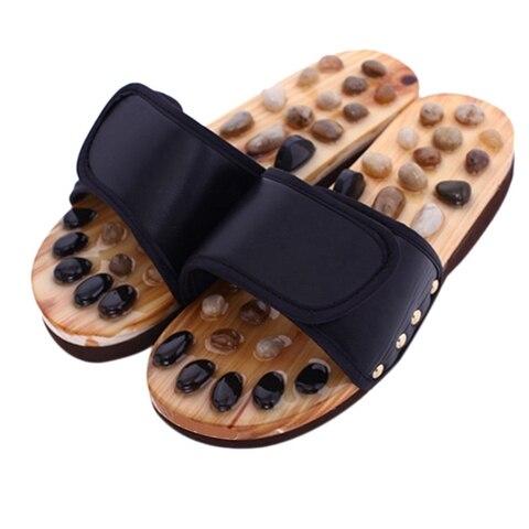 pebble pedra pe massagem chinelos reflexologia pes idosos acupuntura saude sapatos sandalias chinelos saudavel