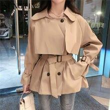 Sungtin nowe modne etui skrzydeł kobiety długi płaszcz Khaki znosić damski, wiosenny jesień szykowna, Slim podwójne piersi wykop