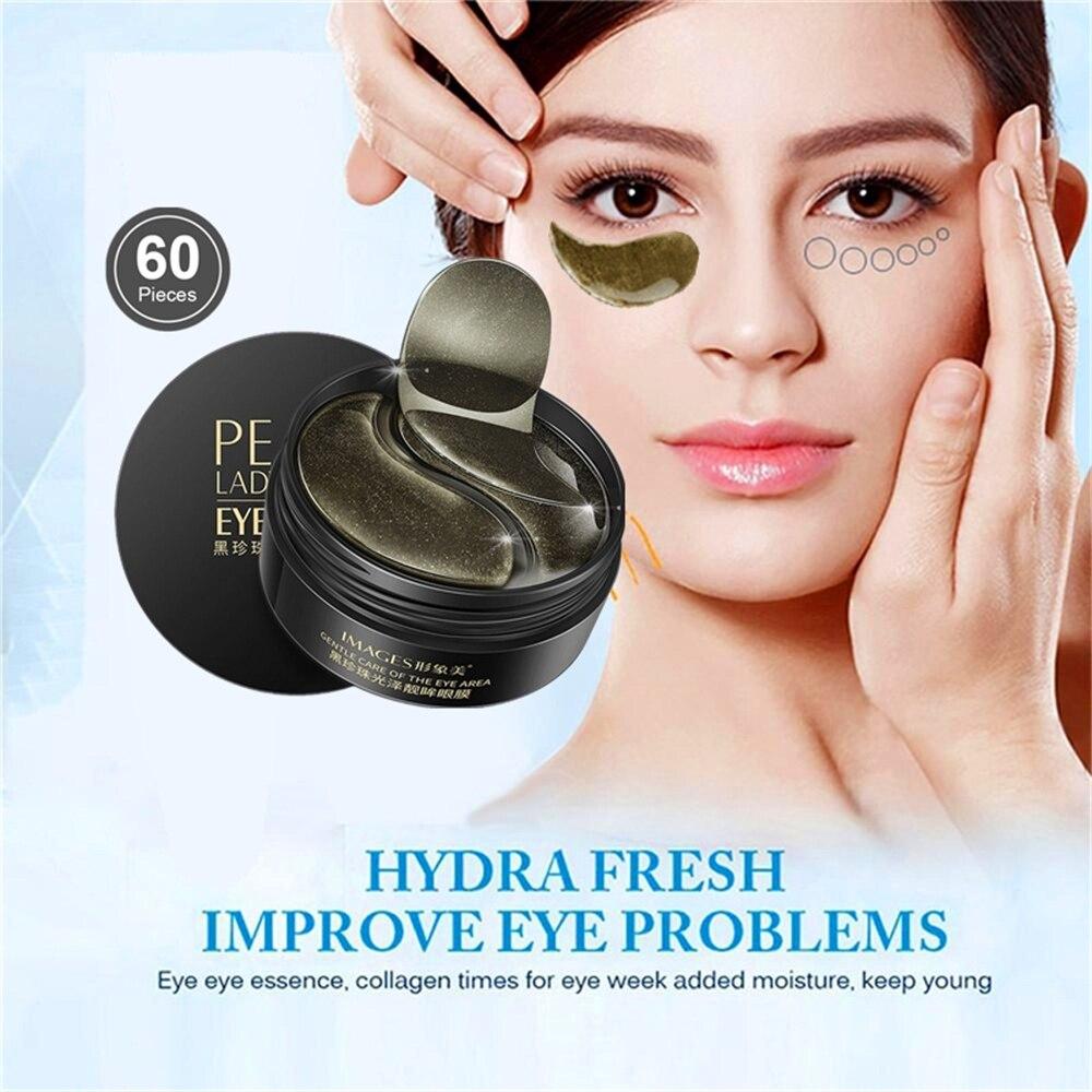 Deep Moisturizing Eye Mask Cell Elastic Restoration Patches Black Pearl Collagen Anti-Wrinkle Remove Eye Pouch Moisturize Cream