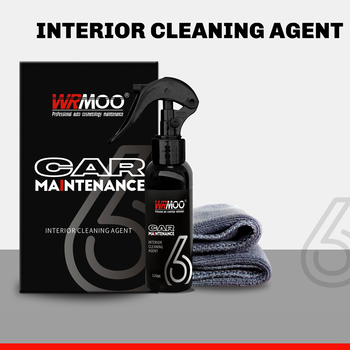 120ml Car Interior Seat Cover Cleaning Agent Car Care Cleaning Kit Interior Cleaner Film Anti Fouling Auto Accessories mqan 120ml