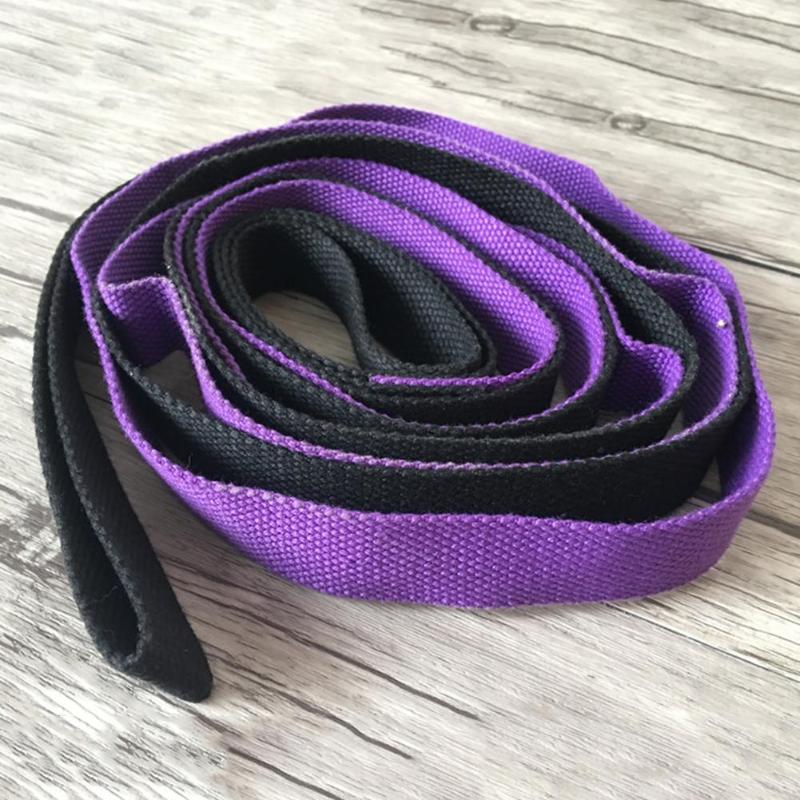2m Yoga Stretch Strap Aerial Yoga Anti-Gravity Rope With Grip Loops Fitness Exercise Gym Rope Waist Leg Resistance Belt