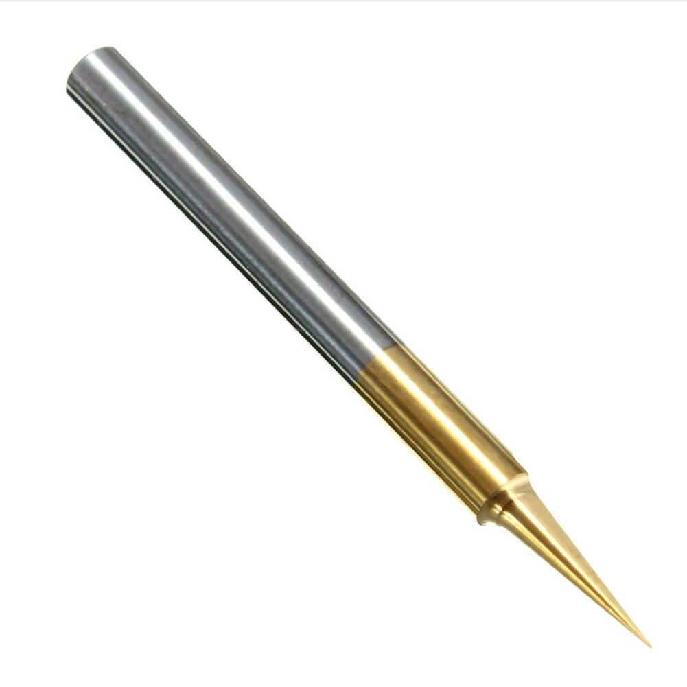 0,1mm 15 Grad Titan Beschichtet Hartmetall Flachen Boden PCB Gravieren Bit Cnc-fräser Werkzeug