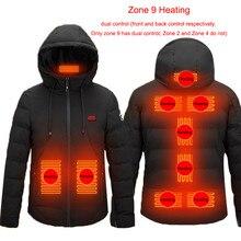 2020 novo 2/4/9 lugares jaqueta aquecida masculino & feminino casaco inteligente usb aquecimento elétrico casaco térmico inverno colete aquecido mais tamanho