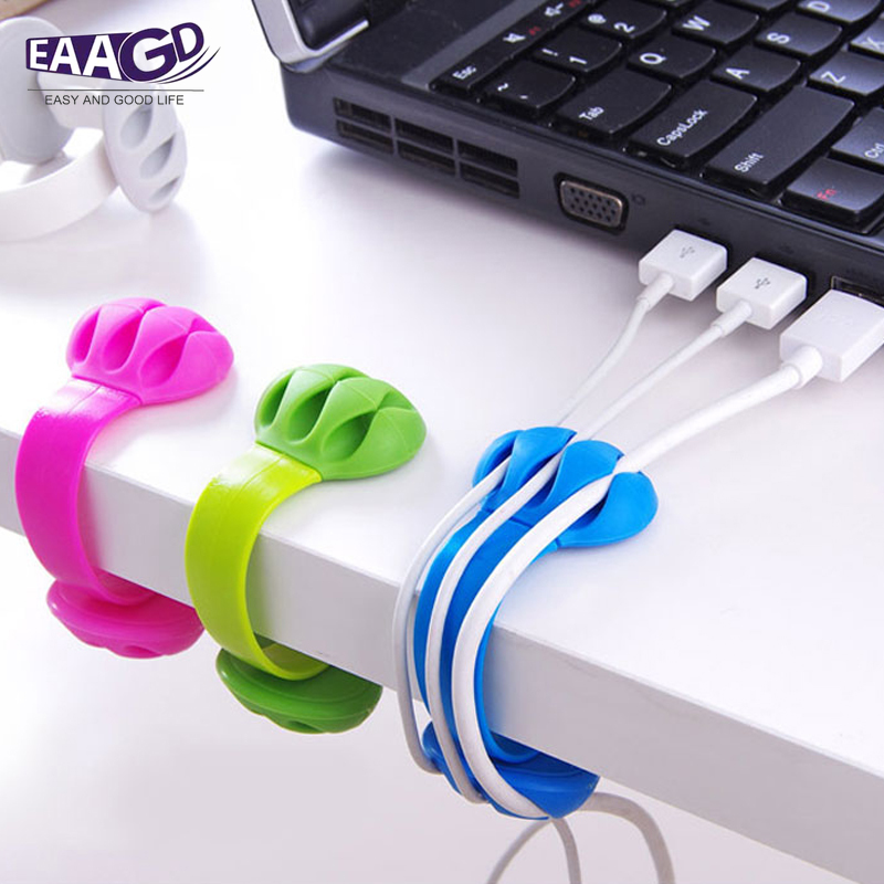 3x Magnetic Silicone Wire Winding Ties Reusable Earphone Cable Organizer Durable