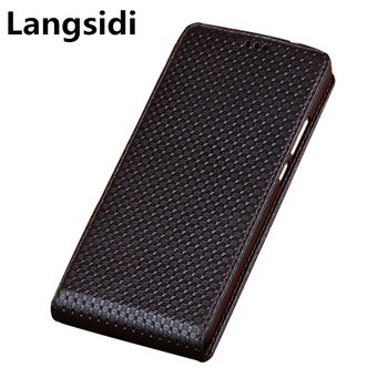 Genuine Leather Vertical Flip Case For ViVo Z6/ViVo Z5/ViVo Z5x/ViVo S6/ViVo S5/ViVo U3x Vertical Phone Case Up and Down Funda фото