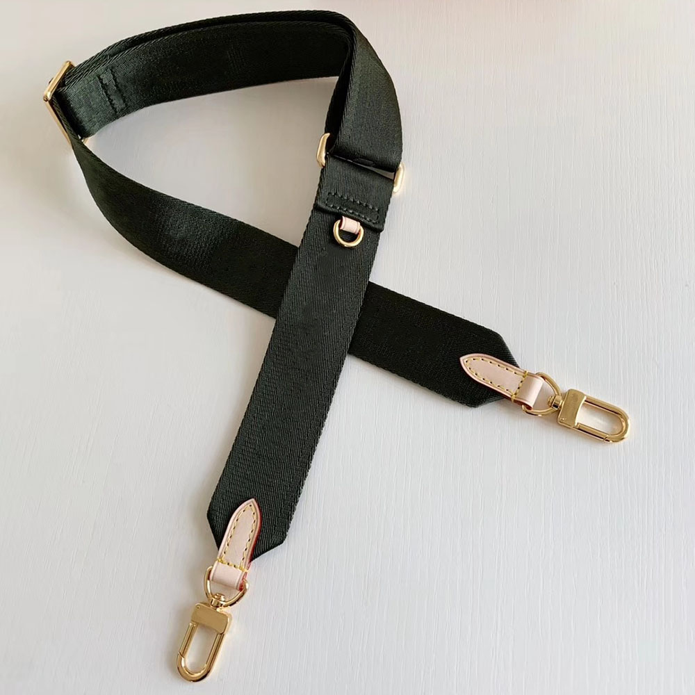 Free shipping Luxury brand MULTI POCHETTE ACCESSORIES handbag shoulder strap embroidered canvas shoulder strap bag accessories