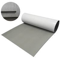 EVA Boat Decking Sheet Marine Flooring Carpet with Self Adhesive Solid Color Light Grey Non Slip Mat Yacht Boating Accessories