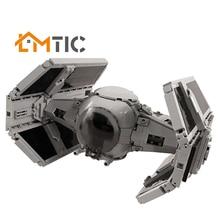 MOC Star Series Movie Advanced-Perfect Minifig Scale TIE Spaceship Building Blocks Diy 854pcs Bricks Christmas Gift For Children