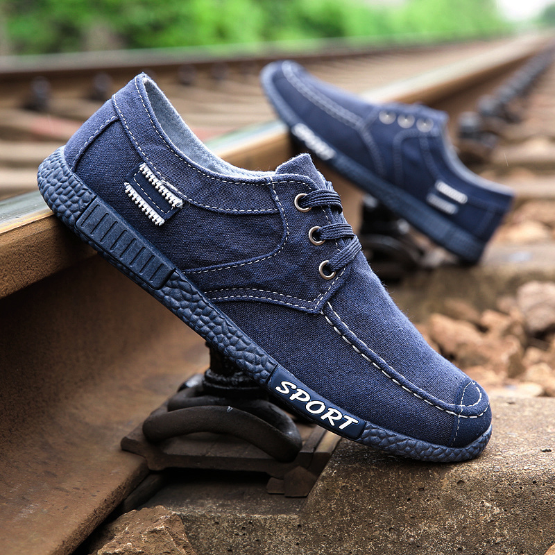 2019 New Brand Retro Denim Men Canvas High Quality Fashion Shoes Breathable Low Top Man Cloth Walking Shoes Casual Sneakers