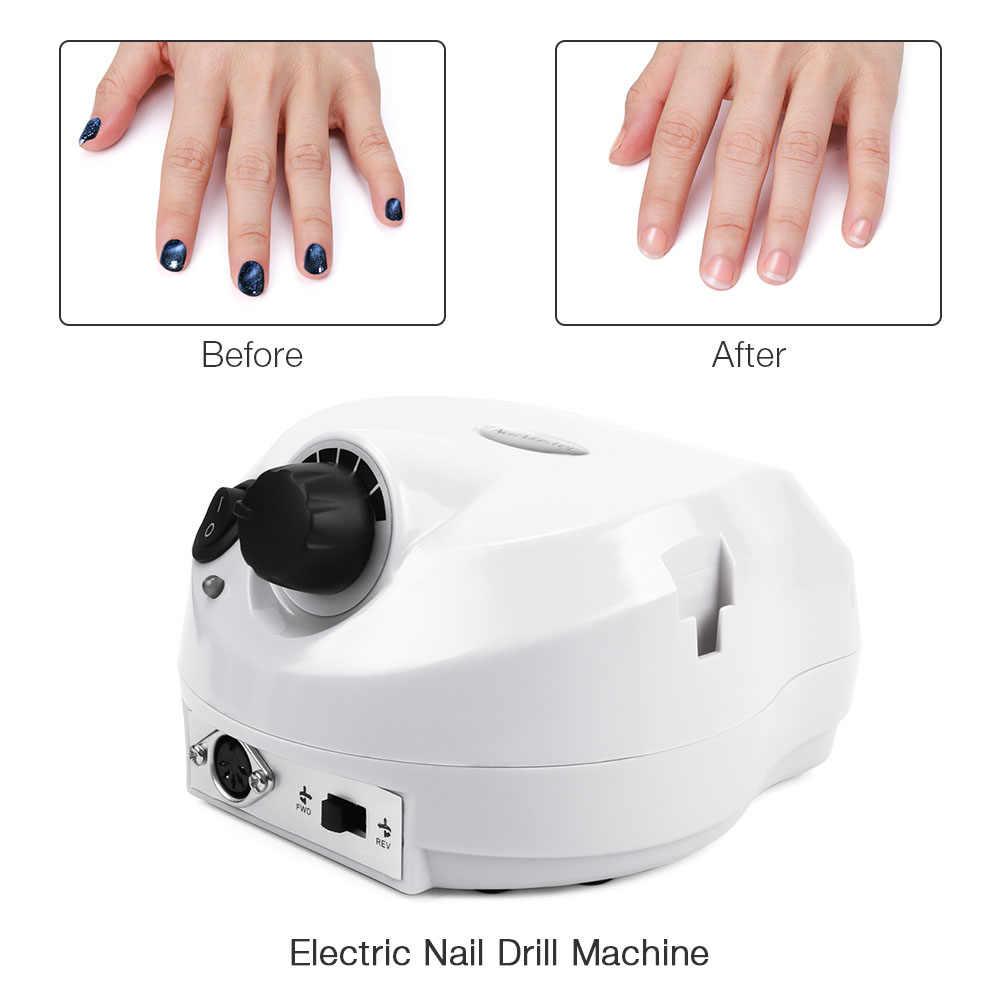 35000RPM 30W manikür pedikür seti profesyonel elektrikli dosya matkap ucu elektrikli makine Nail Art parlatıcı ekipmanları aracı