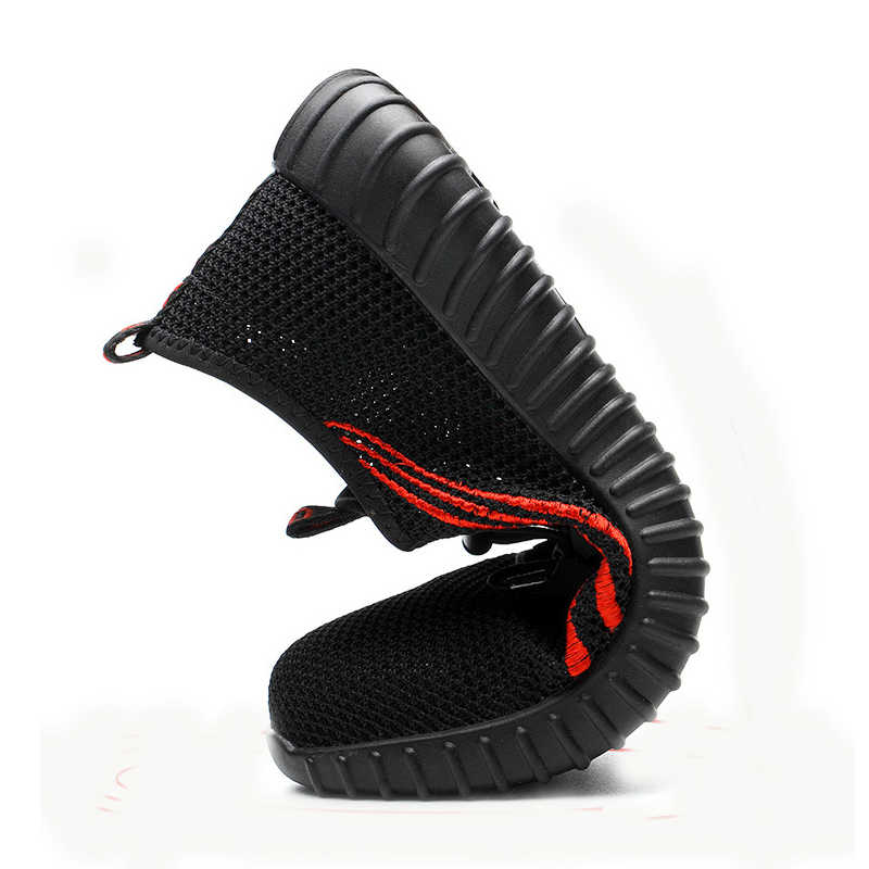 Мужская дышащая Рабочая защитная обувь мужские уличные противоскользящие стальные проколы строительные защитные сапоги обувь стальной носок