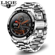 LIGE 2020 New Fashion Smartwatch Bluetooth Call Sport Men's Watch Heart Rate Monitoring Music Control Waterproof Smart Watch Man