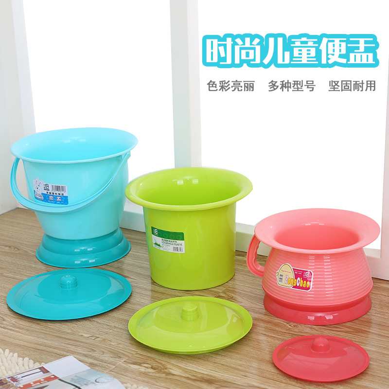 Stool Basin Cat Litter Box Pond Cylinder Developing Lid Cover Men And Women Children Squatting Baby Chamber Pot Candy Children B