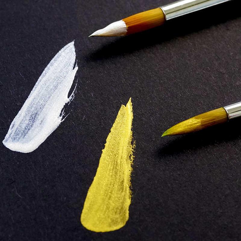 1 бутылка японского пентел золото/серебряный глиттер для каллиграфии чернила для кистей