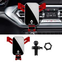 ABS Car Gravity Phone Holder Air Vent Clip Mount For Renault Clio Captur Scenic Kadjar