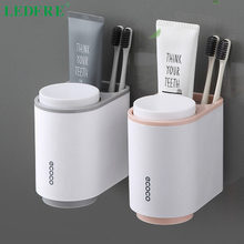 LEDFRE Toothbrush Holder Toothpaste Squeezer Wall Mounted for Bathroom Cup Accessories Set LF71098