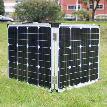 Dokio 100W (2Pcs x 50W) Foldable Solar Panel China pannello solare usb Controller Solar Battery Cell/Module/System Charger 3