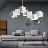 Artpad Dim cubo mágico LED creativo lámpara colgante 7/8 cabeza techo lámpara colgante 35/40W para comedor sala de estar accesorio de luz