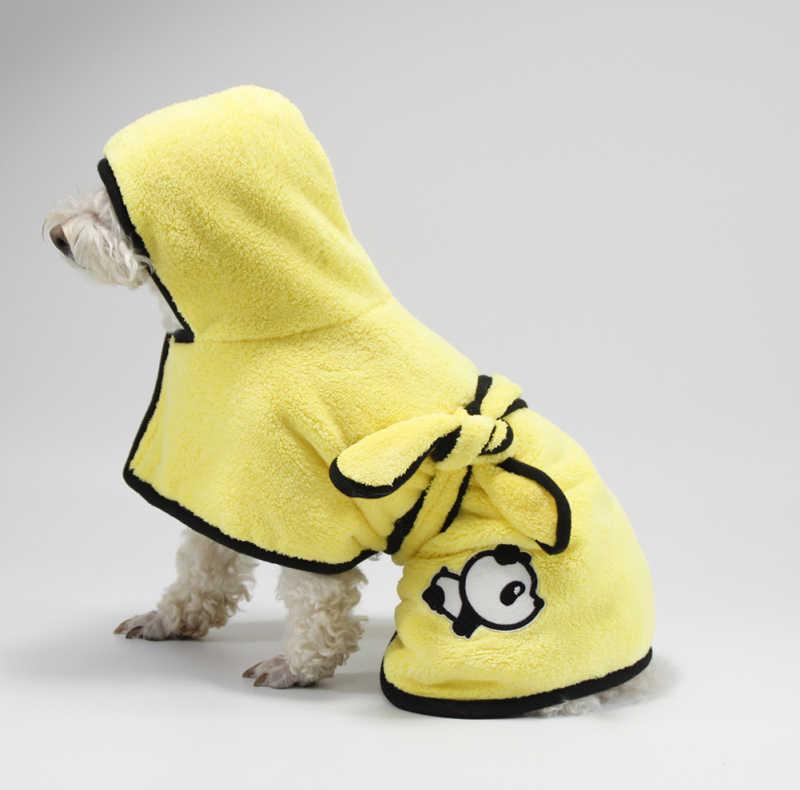 Rubber Ducky Bathrobe Plush Jacket Dog Clothes Coat