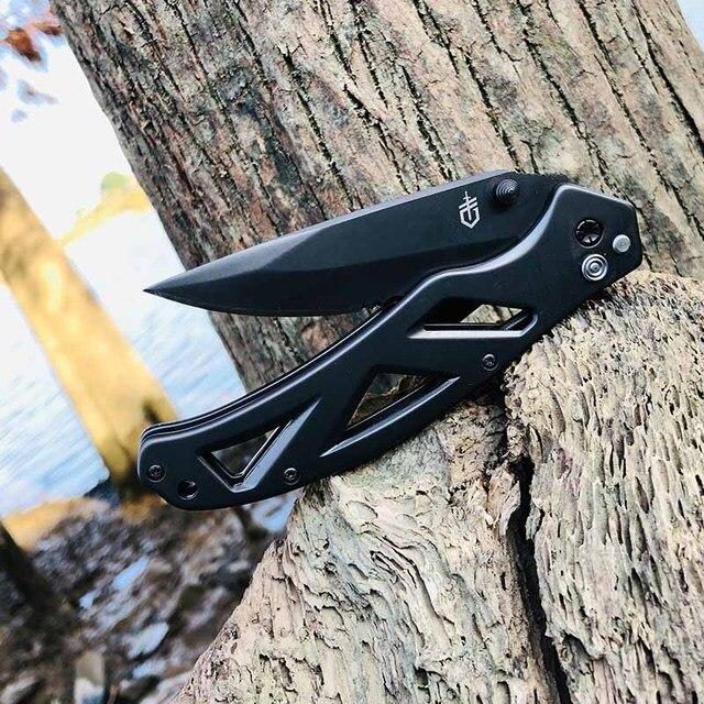 2021 Hot Seller Gerber in Outdoor Folding knife High Hardness Camping Hunting Tactics Pocket kitchen Self-defense garden Tools 6