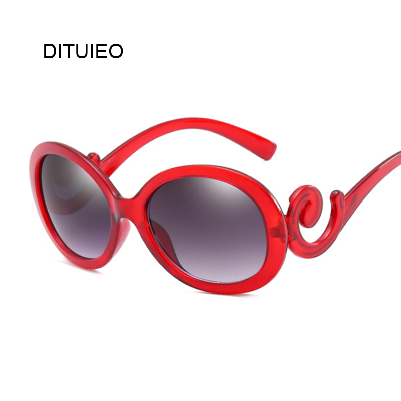 Red Oval Sunglasses Women Retro Brand Design Vintage Sun Glasses For Female Ladies Eyewear Oculos De Sol Feminino UV400