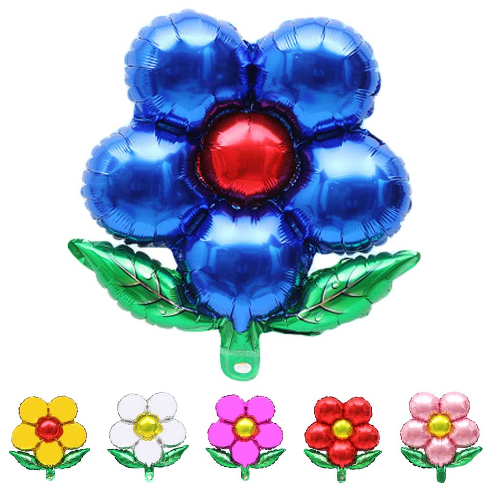 1pcs Five-flowered Green Leaf Flower Round Petals Aluminum Balloon Holiday Party Decoration Balloon High Quality