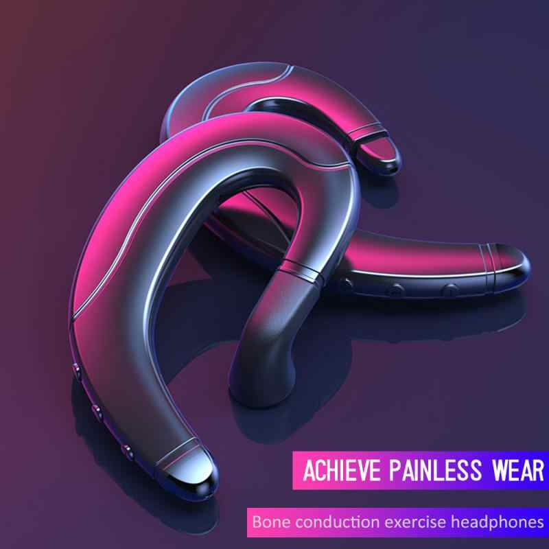 Mr NEW F88 Bone Conduction Bluetooth Headset Does Not Enter The Ear Driving Wireless Hanging Ear Mobile Phone Call Sports Sweat