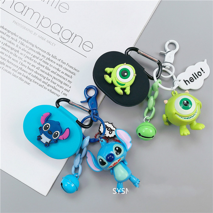 Cute Stitch Earphone Cover For Redmi Airdots Case Cute Protection Frame For Xiaomi Airdots Cases For Mi Air Dots