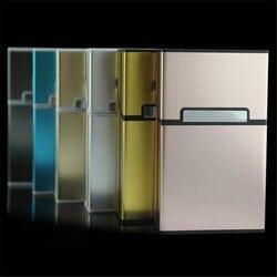 1PC bonbons couleur étui à Cigarettes mode aluminium 20 pièces Cigarettes capacité étui à Cigarettes boucle magnétique boîte à tabac