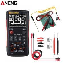 Aneng q1 verdadeiro rms multímetro digital 9999 contagens ac dc tensão atual resistência capacitância tester com gráfico de barra analógico