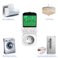 16A LCD Elektriciteit Energy Meter Power Meter Energieverbruik Monitor Digitale Ampèremeter Voltmeter