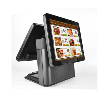 epos system dual screen 15inch retail pos system for supermarket