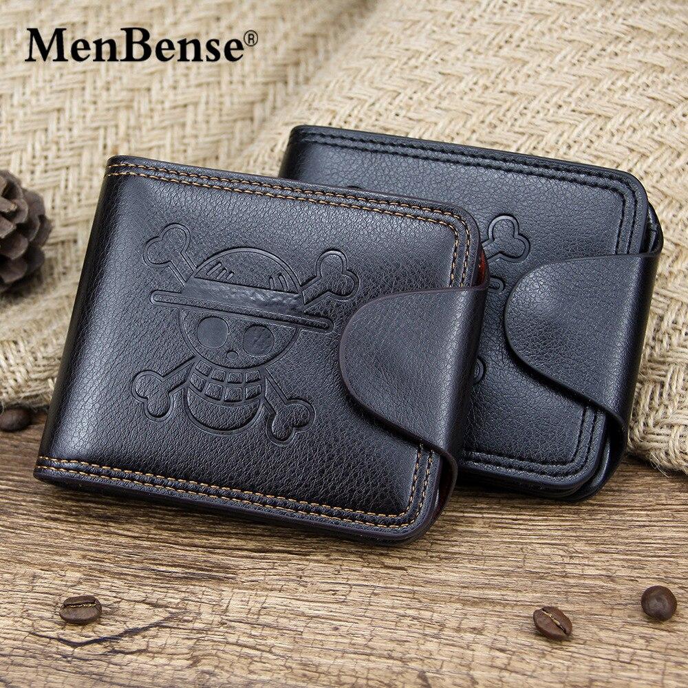 High Quality Leather Youth Student Anime Fashion Short Wallet Men Wallet Card Holder Money Bag Men Gift