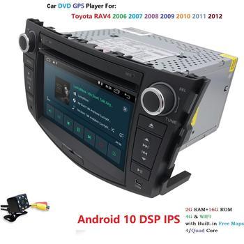 Автомагнитола с сенсорным экраном, Android 10, для Toyota RAV4 2006 2012, два Din, DVD плеер, радио, видео мультимедиа, Bluetooth, Wi Fi