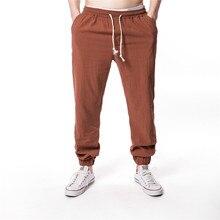TJWLKJ Harem Pants Men Hip hop Jogger Pants Men Gym Fitness Trousers Male Harajuku Linen casual pants Sweatpants цена