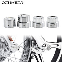 Motorcycle Chrome Front Rear Axle Nut Covers Cap Bolt 4PCS For Harley Touring Softail Dyna Sportster Road Glide XL Slim FLS FXD