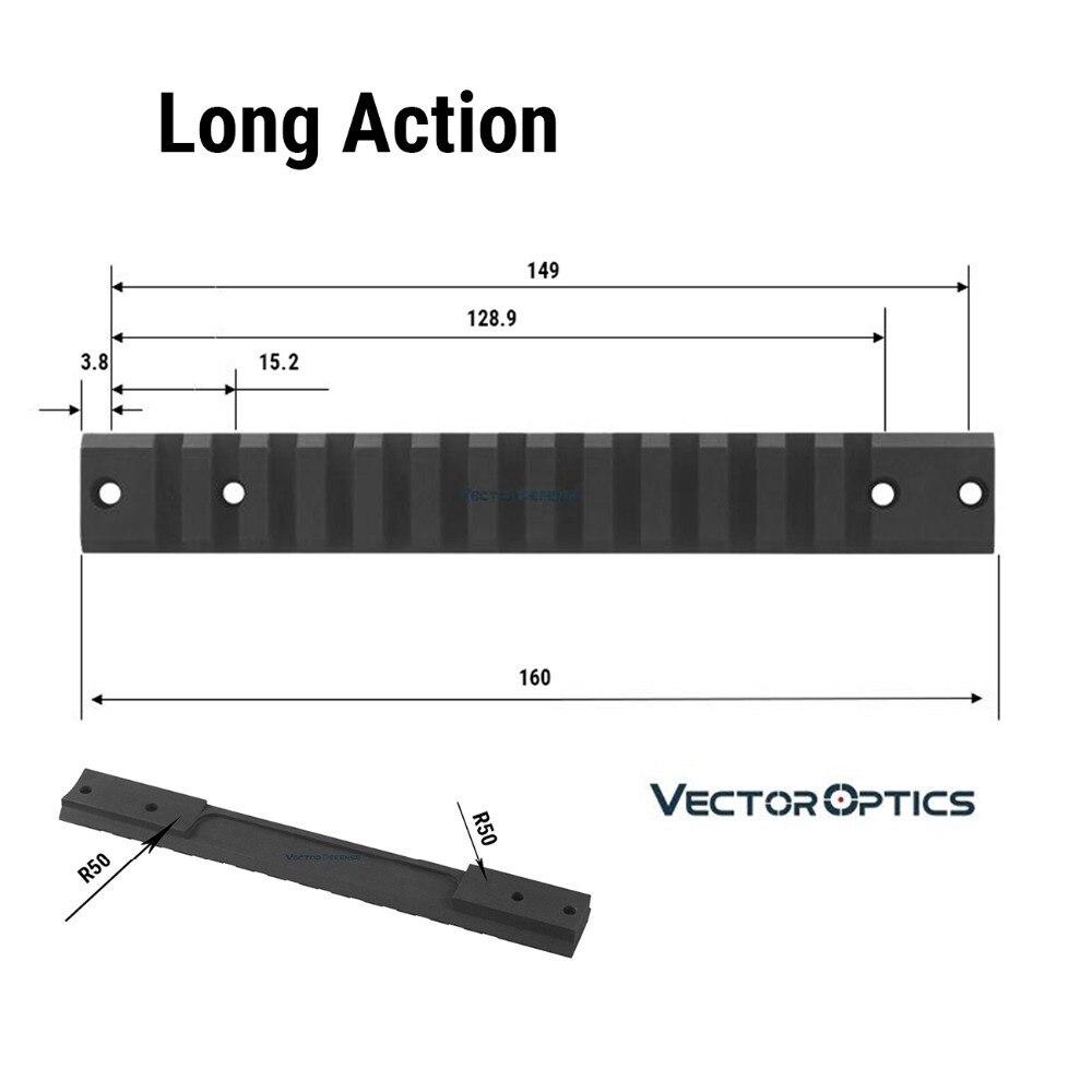 picatinny ferroviário montar ação longa tactical caber