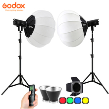 2x Godox SL150II 150W/ SL200II 200W LED וידאו רציף אור פנס Softbox Stand ערכת SL 150W השני 2.4G 5600K למלא תאורת סט