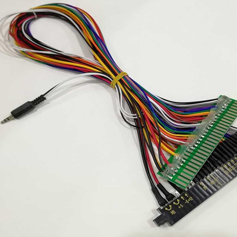 IG-máquinas Arcade dedicado Cable de extensión para 28P Jamma línea oro línea fila macho en máquina de juego de accesorios de Cable largo Harne