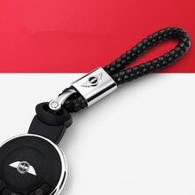 Кожаные брелки для автомобильных ключей из цинкового сплава, брелок для MINI Cooper R55 R56 R57 R58 R59 R60 F54 F55 F56 F57 F60, Стайлинг автомобиля