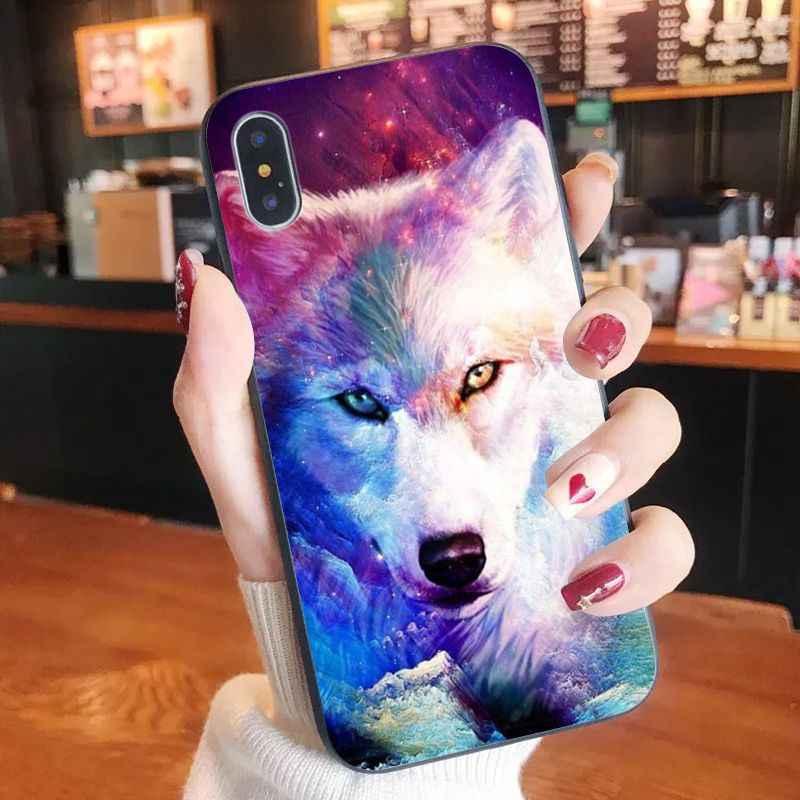 Etui na telefon wilk zwierząt DIY drukowanie rysunek etui na telefon Shell dla iPhone 11 pro XS MAX 8 7 6 6S Plus X 5 5S SE XR przypadku