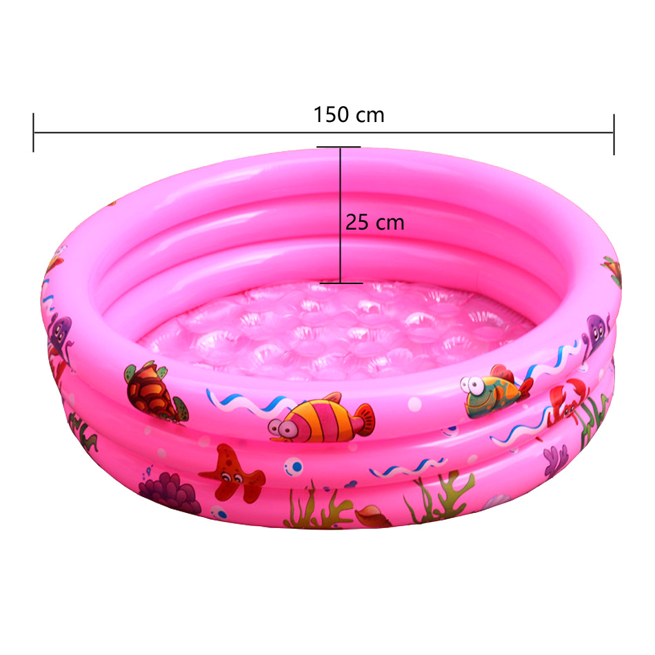150X25 cm Play Ball Pool Baby Swimming Pool Child Summer kids <font><b>Water</b></font> <font><b>Toys</b></font> Inflatable Bath Tub Outdoor sports Swiming Pool Mat image