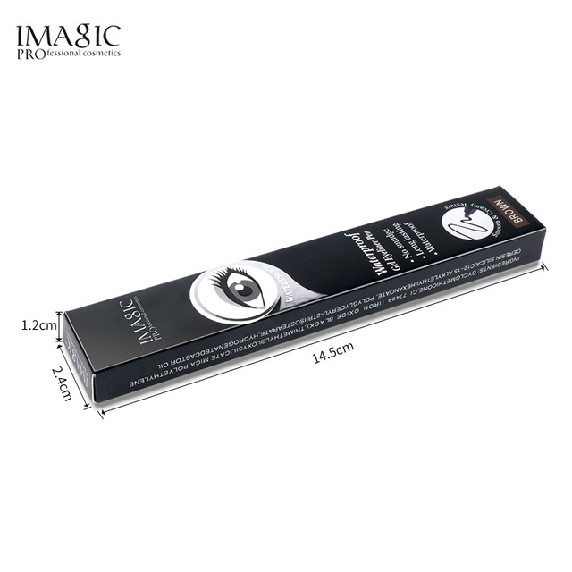 Imagic Brand 1pcs Black Waterproof Eyeliner Pen Pencil Makeup Beauty Cosmetic Tool+1pcs Pencil sharpener 6