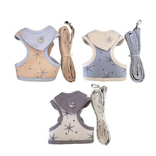 Fashion Adjustable Dog Harness Soft Breathable Cloth Mesh Vest Harness for Dogs Puppy Collar Cat Pet Dog Chest Strap Leash 1pc adjustable soft breathable dog harness nylon mesh vest harness for dogs puppy collar cat pet dog chest strap leash