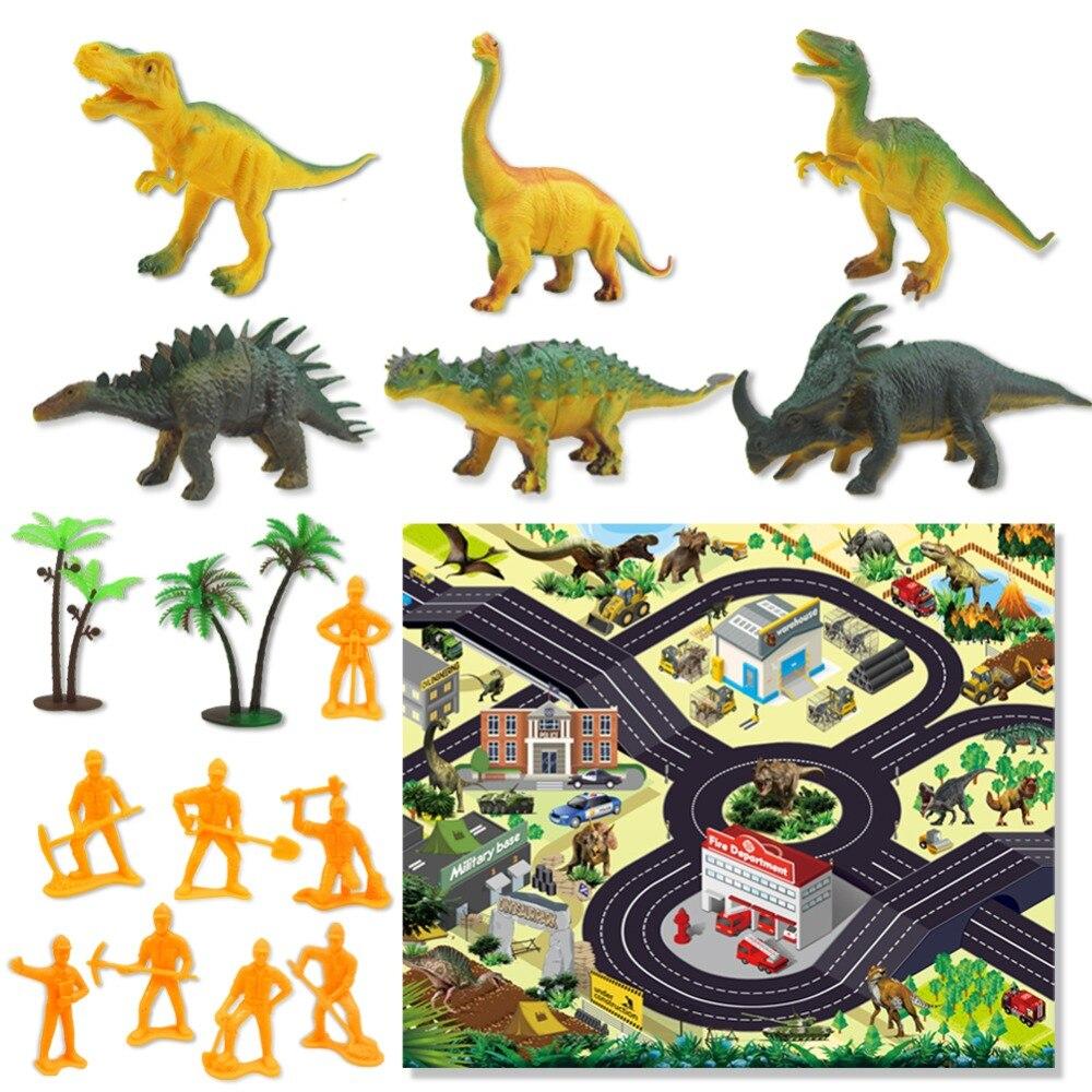 Crianças dinossauro brinquedo simulação animal modelo dinossauro