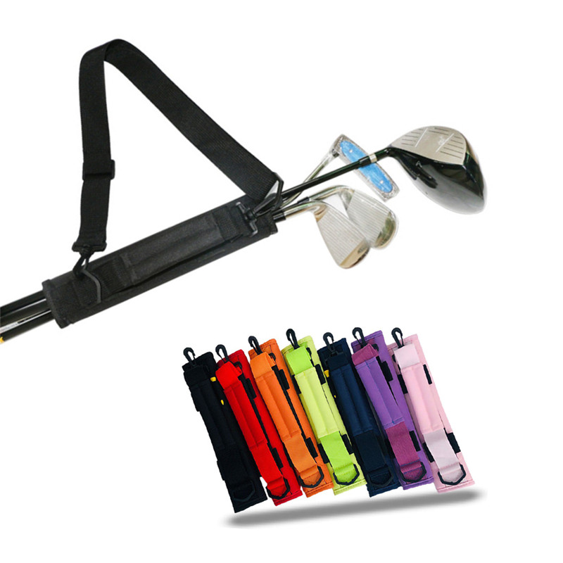 Golf Club Bag Carrier Driving Range Travel Color Black Blue Pink For Kids Men Women Value Pack