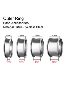 Ring-Accessories Stainless-Steel Floya Aluminum Inner-Filled-Rings Bague Black Full-Zircon