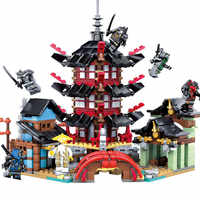 Ninja Temple DIY Building Block Sets 737pcs educational Toys for Children Compatible Legoings ninjagoes